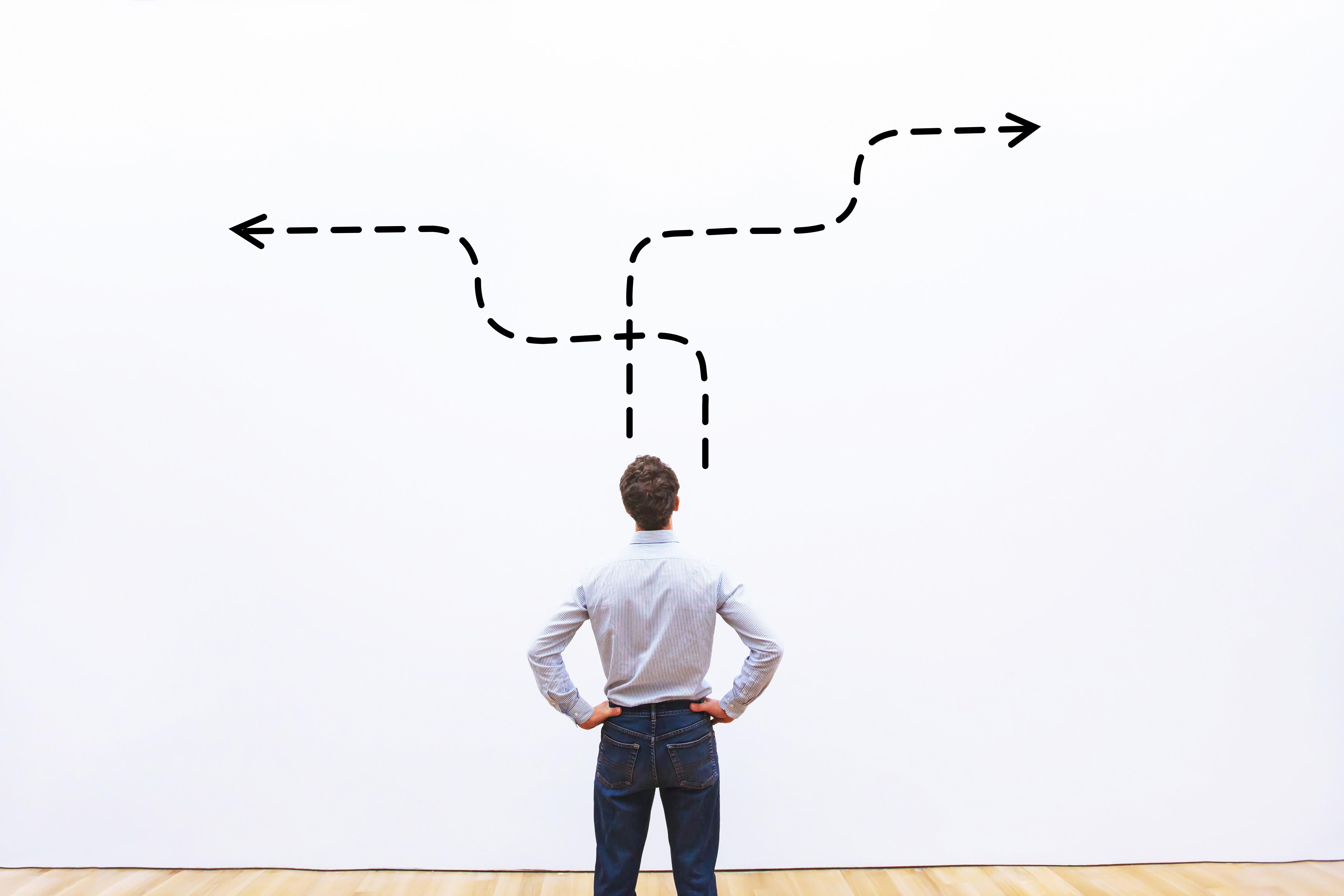 man making a decision
